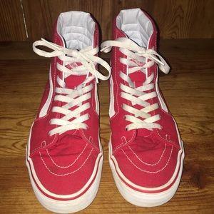 Red Vans Sk8 Hi